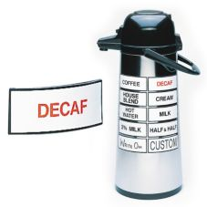 "Cal-Mil 3"" x 1-1/2"" ""DECAF"" Magnetic Airpot Sign"