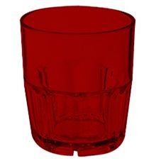G.E.T. 9909-1-R Bahama Red SAN Plastic 9 Oz Double Rocks Glass - Dozen