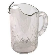 Continental Tri-Pour™ Clear 60 Oz Plastic Pitcher w/ 3-Lip Spout