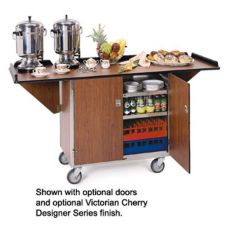 Lakeside® 675 Laminated Top Beverage Service Cart With Drop Leaves