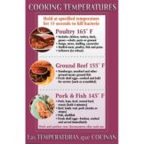 "DayMark 112097 17"" x 11"" Cooking Temperatures Poster"