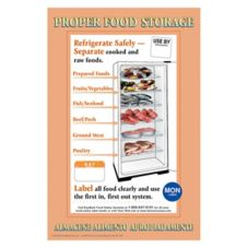 "DayMark® 17"" x 11"" Proper Food Storage Poster"