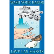 "DayMark 112091 17"" x 11"" Wash Your Hands Poster"