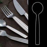 "Steelite 5355S002 Casablanca S/S 6-3/4"" Soup Spoon - Dozen"