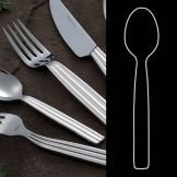 "Steelite 5355S004 Casablanca S/S 8"" Table Spoon - Dozen"