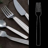 "Steelite 5355S021 Casablanca S/S 8-1/4"" Table Fork - Dozen"
