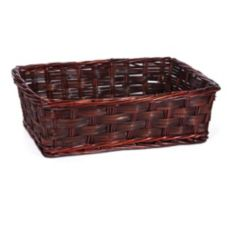"Willow Specialties 85179 22-1/2"" x 16"" Rectangular Willow Basket"