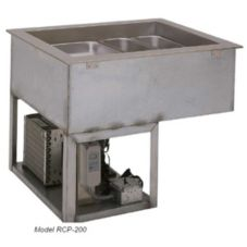 Wells Mfg RCP300 Mechanically Cooled 3-Well Drop-In Cold Food Pan Unit