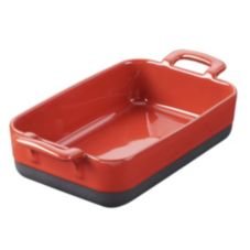 Revol® USA 635285 24-3/4 Oz Red Rectangular Roasting Dish - 3 / CS