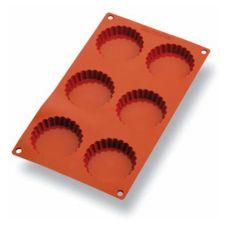 Matfer Bourgeat 257926 Gastroflex® 6 Cup Fluted Tart Mold Pan