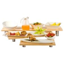 Buffet Euro Rectangle 3-Piece Bamboo Riser Set