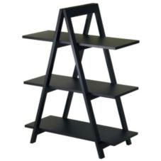 "Winsome Wood 20130 Black 3-Tier 30"" x 15"" x 38"" A-Frame Shelf"