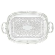 "Winco™ CMT-1912 Chrome-Plated 19.5 x 12.5"" Oblong Tray"