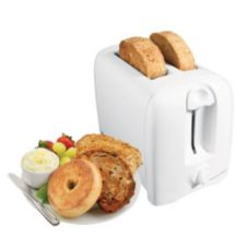 Proctor SilexWhite Cool-Wall Auto-Shut-Off 2-Slice Toaster
