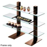 Cal-Mil 1467-48 Brown Metal 3-Tier Frame Risers