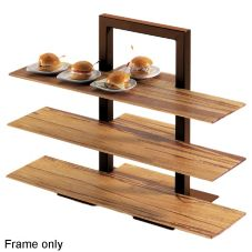 "Cal-Mil 1464-48 Brown 18-1/4 x 11 x 25"" 3-Tier Frame Riser"