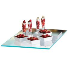 "Cal-Mil® 1435-2424 Glass 24"" Square Shelf"