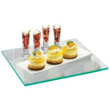 "Cal-Mil® 1435-1212 Glass 12"" Square Shelf"