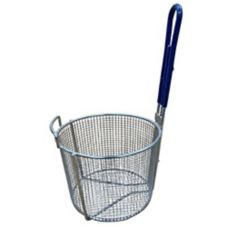 "AyrKing B122 Plated Wire 9"" Round Dip Basket"
