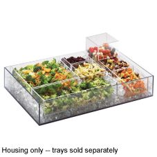 "Cal-Mil® 1399-12 Cater Choice 24 x 16 x 4-1/2"" Clear Housing"