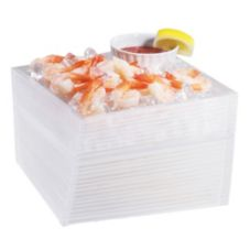 "Cal-Mil® 692-9-6 Acrylic 9 x 9 x 6"" Oblique Ice Display"