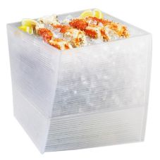 "Cal-Mil® 692-12-12 Acrylic 12 x 12 x 12"" Oblique Ice Display"