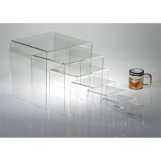 "Clear Solutions 8200 Acrylic 3"" 3-Sided Riser"