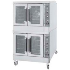 Vulcan Hart VC44GD W/CASTERS Double Deck Natural Gas Convection Oven