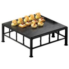 """Cal-Mil 1711-5-65 Steel 12 x 12 x 5"""" Square Riser With Slate Top"""