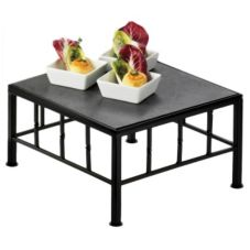 "Cal-Mil 1711-7-65 Metal 12 x 12 x 7"" Square Riser With Slate Top"