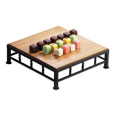 Cal-Mil 12 x 12 x 3 Square Iron Riser With Bamboo Top