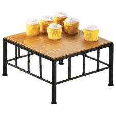 "Cal-Mil 1711-7-60 Metal 12 x 12 x 7"" Square Riser With Bamboo Top"