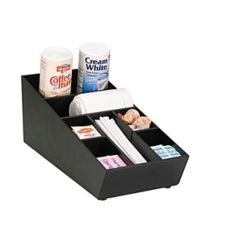 "Dispense-Rite 7.25""x8"" Black Countertop Organizer"
