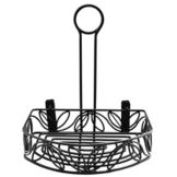 American Metalcraft CRL86 Blk Wrought Iron Semi-Round Condiment Caddy
