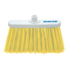 "Kay Chemical 89990130 Yellow Angled Lobby Broom W/ 9"" Flagged Bristles"