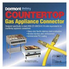 "Dormont CT1650KIT36 36"" Countertop Gas Appliance Connector Kit"