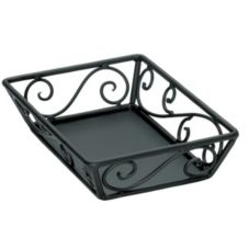 "Delfin Design Black Steel 12 x 9 x 2"" Santa Fe Basket"