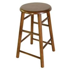 "Old Dominion 2704-24W Wood Products Walnut 24"" High Bar Stool"