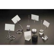 American Metalcraft ACB118 Black Sq. Acrylic Cube Card and Tag Holder
