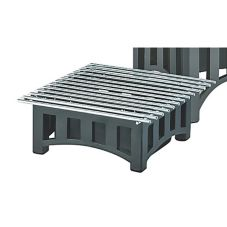 "Cal-Mil 1364-12-13 Black 12"" Sq. Bridge Style Cook N Serve Riser"