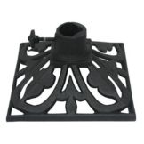"Hollowick® TK08045 9"" Square Cast Iron Torch Stand"