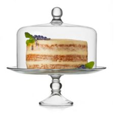 Libbey® 55782 Glass Cake Plate w/ Dome Set - 2 / CS