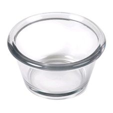 Gessner™ 0365CL SAN Plastic 3 Oz. Smooth-Sided Ramekin - 72 / CS