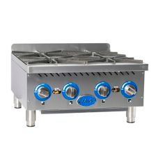 Globe Food GHP24G Countertop Gas Hot Plate with (4) 22,000 BTU Burners