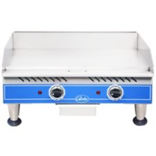 Globe Food Countertop 24-In. Economy Electric Griddle w/ Splash Guard