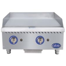 "Globe Food Equipment Countertop S/S 24"" Manual Gas Griddle"