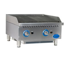 "Globe Food Equipment Countertop 24"" S/S Radiant Gas Charbroiler"