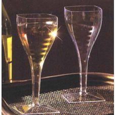 EMI Yoshi® EMI-SWG8 Squares Clear 8 oz Wine Glass - 72 / CS