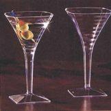 EMI Yoshi® EMI-SMTG8 Squares Clear 8 Oz Martini Glass - 72 / CS