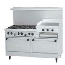 "Garland / U.S. Range SunFire 6-Burner Gas Range w/ 24"" Griddle"